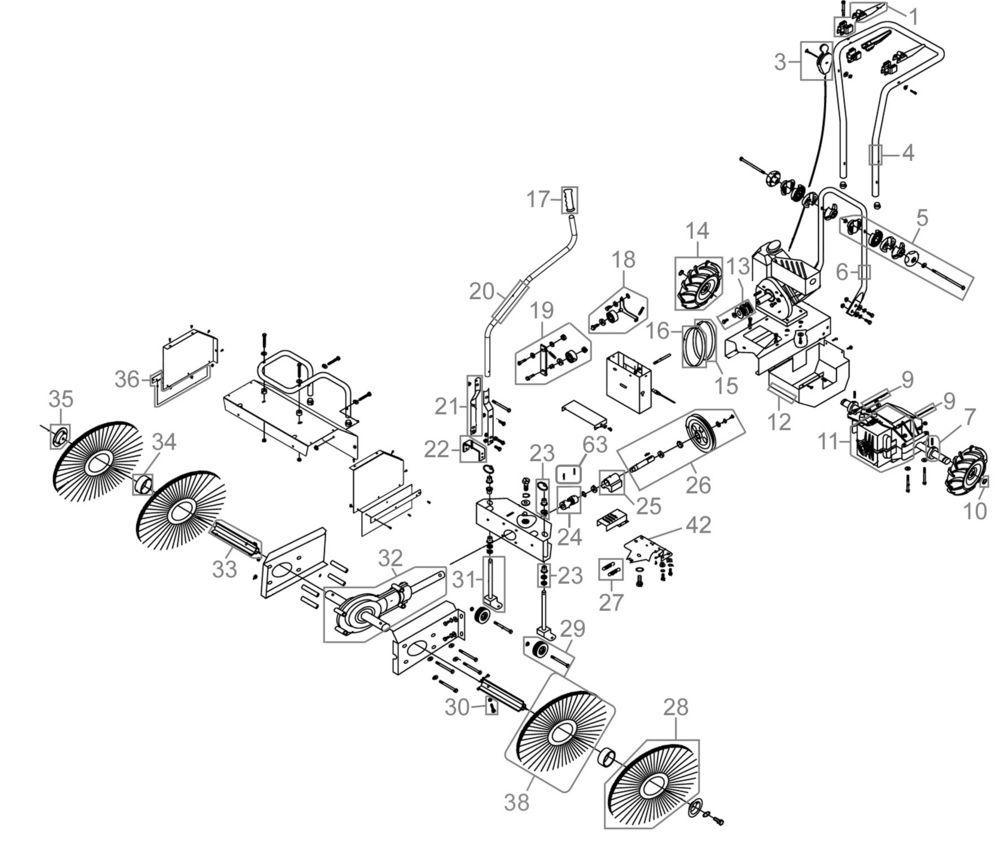 kehrmaschine gkm 6 5 b s 3 in 1 16789. Black Bedroom Furniture Sets. Home Design Ideas